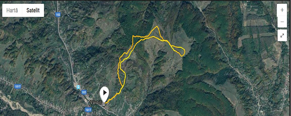 Plan traseu alergare montana